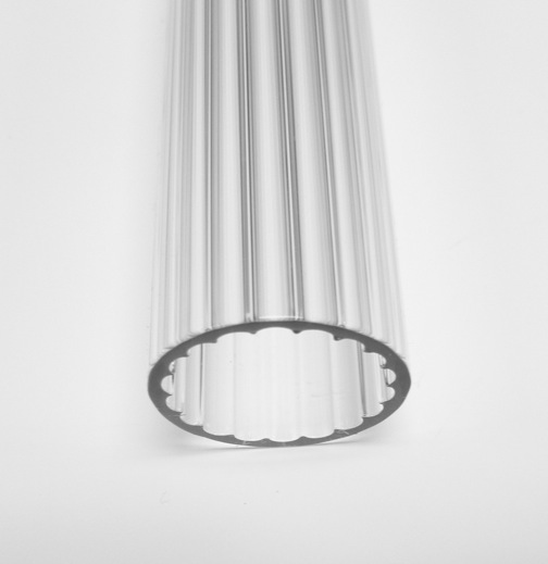 26mm 1.5 Borosilicate Clear Scalloped Tube - Click Image to Close